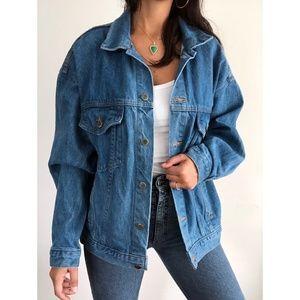 Vintage Tyca denim oversized trucker jacket